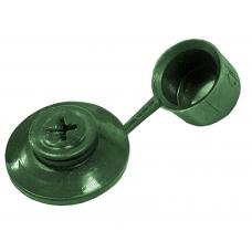 Шайба кровельная с колпачком зеленая