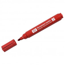 Маркер красный, перманентный 12 шт