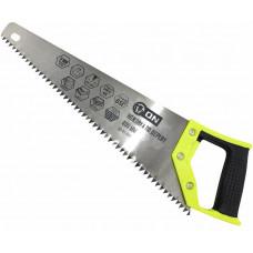 Ножовка по дереву, 8 мм, 350мм 2-х сторонняя заточка, закаленный