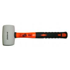Киянка резиновая 50мм/400г., фибергласс, бел/оранж