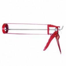 Пистолет для герметика с мет фиксатором 225мм скелетный