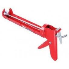 Пистолет для герметика  с мет. фиксатором 225мм полукольцо